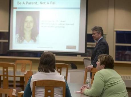 Only two parents attended a Cohasset High School workshop that detailed the state's social host law and the legal consequences of allowing underage drinking at home.